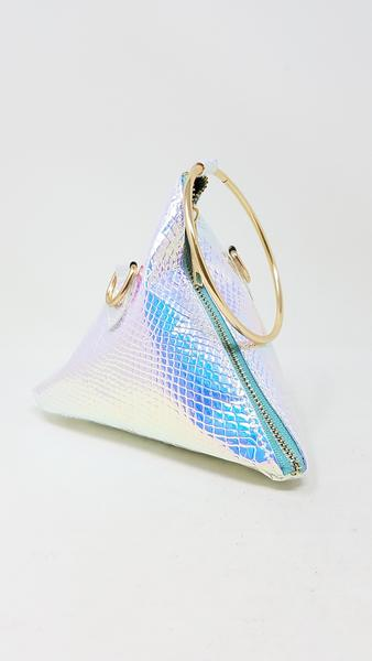 Iridescent Triangle Bangle Bag