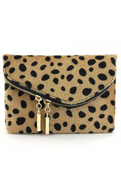 Leopard Flap Over Clutch