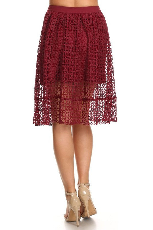 Burgundy Through The Loop Skirt