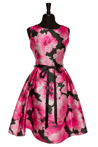 Pink & Black Mia Floral Plus Dress