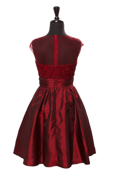 Burgundy Elissa Dress