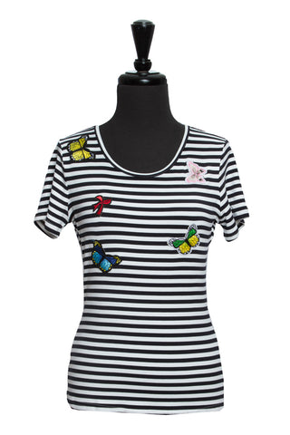 Striped Emblem Top
