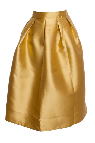 Gold Plus Midi Skirt