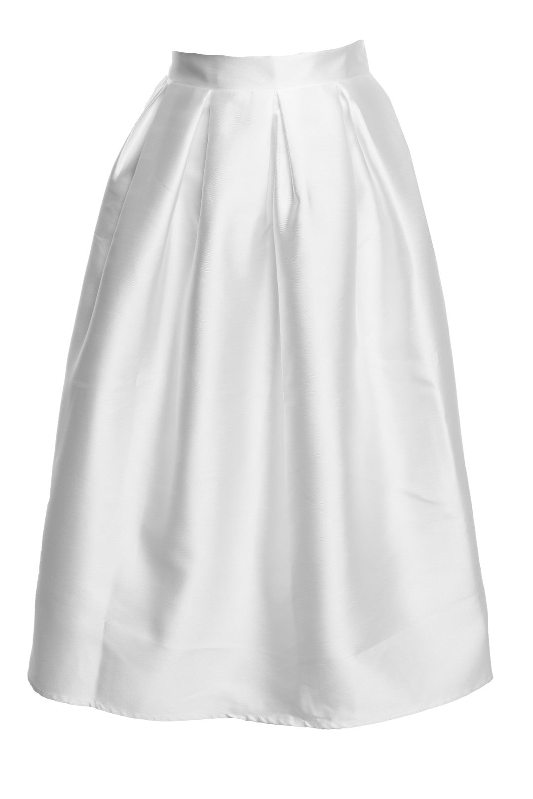 White Plus Midi Skirt