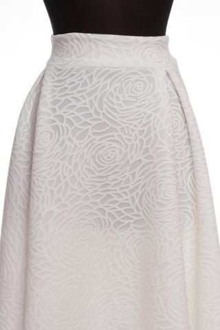 White Rose Swirl Plus Skirt