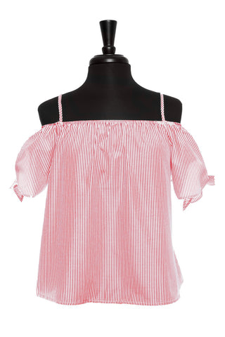 Red Stripe Eloise Top