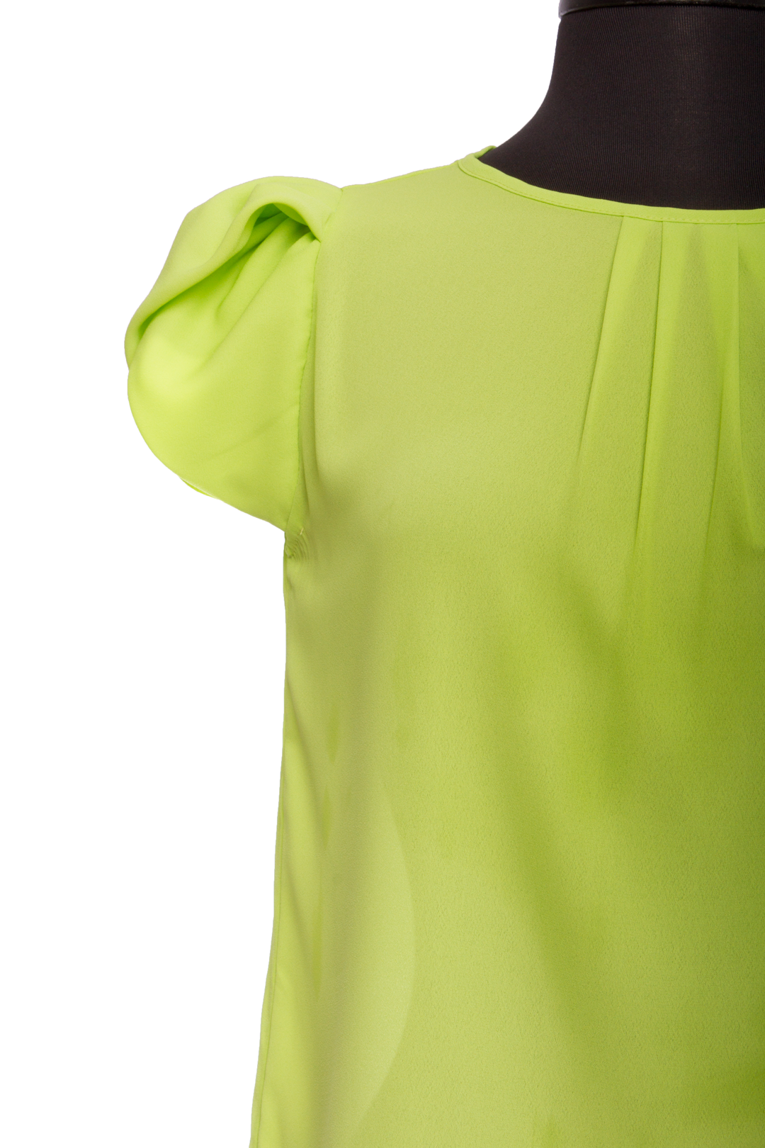 Lime Bubble Sleeve Top