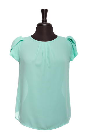 Mint Bubble Sleeve Top