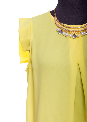 Yellow Capped Blouse