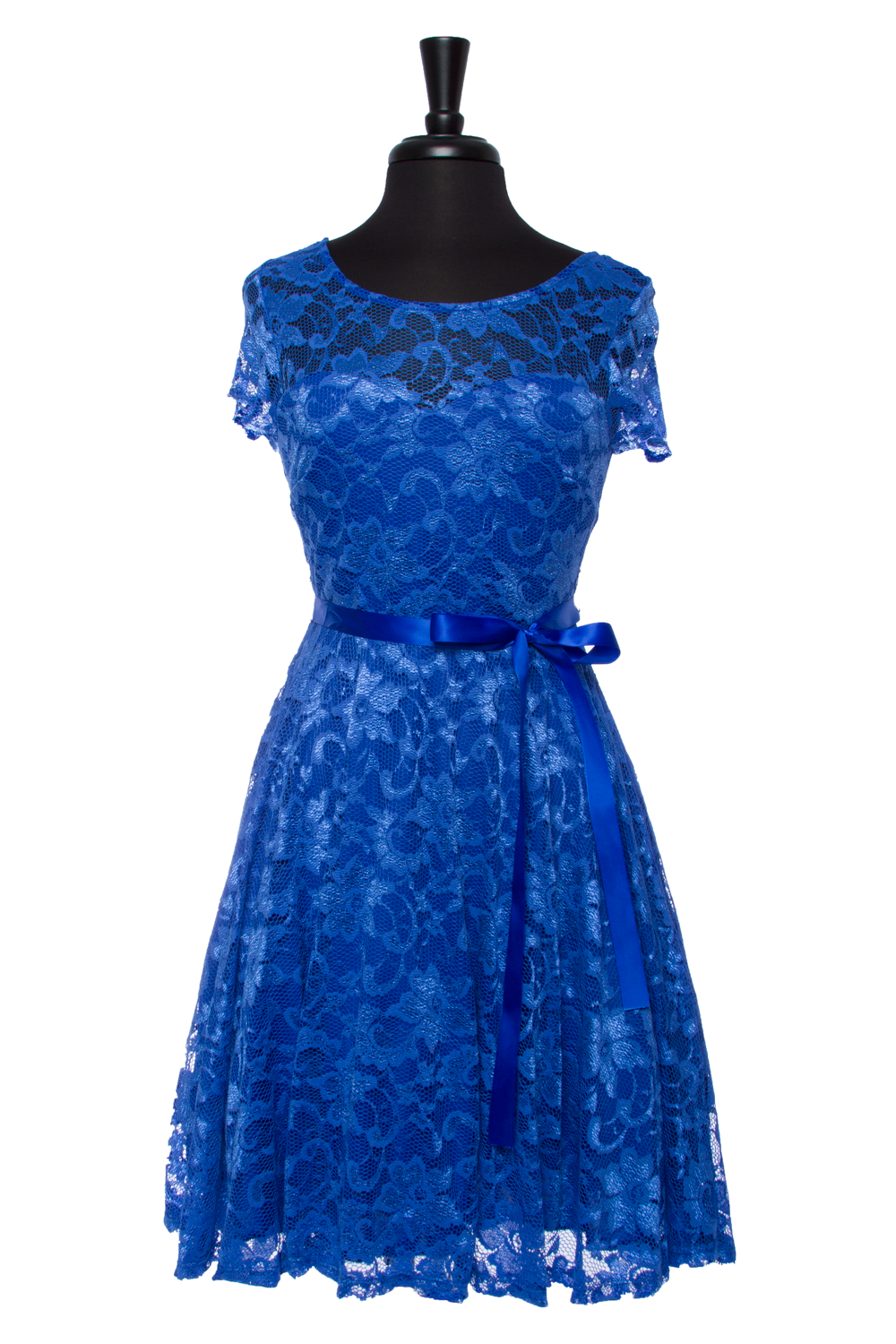 Royal Blue Endless Lace Dress