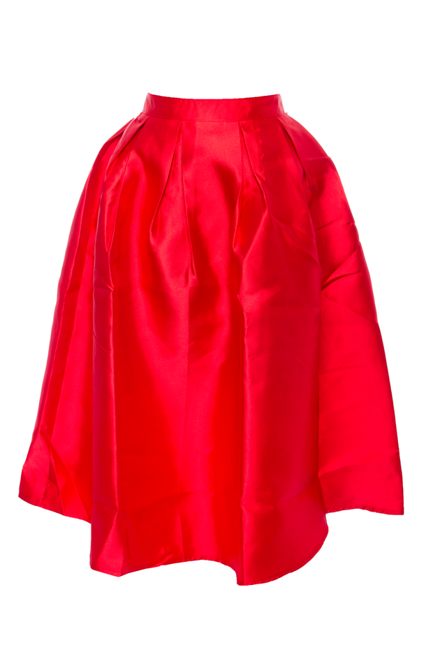 Red Taffeta Skirt