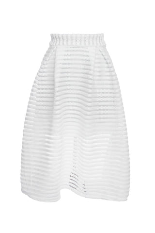 White Scuba Plus Skirt