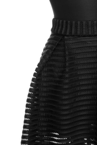 Black Scuba Plus Skirt