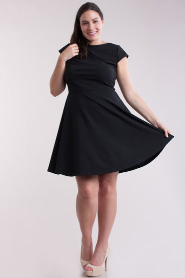 Black Kathleen Plus Dress