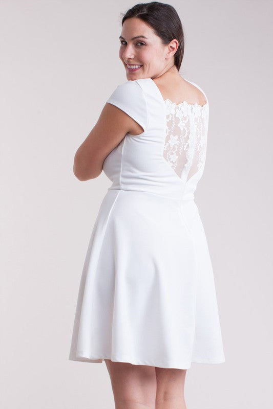 White Kathleen Plus Dress