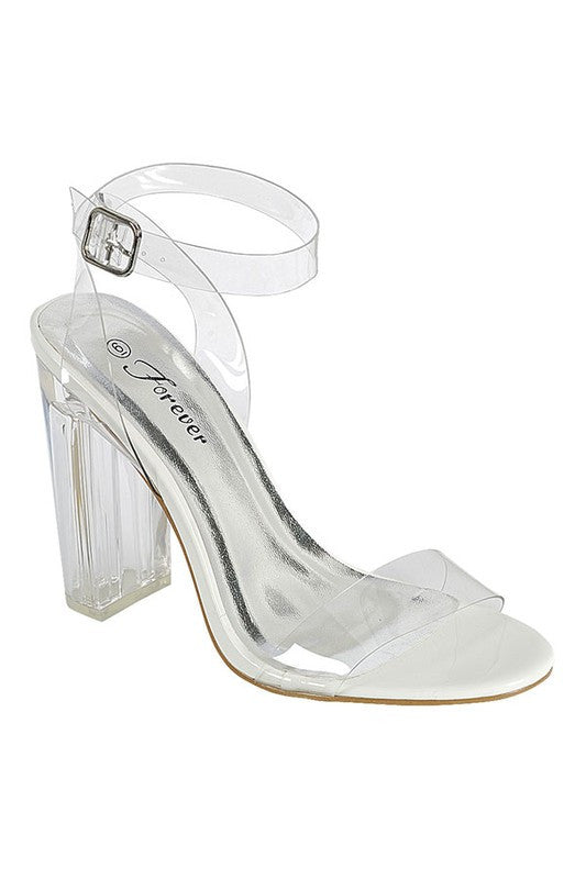 White See Through Sandal