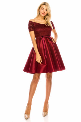 Burgundy Janet Dress