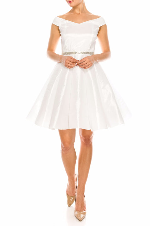 White Nova Embellished Dress