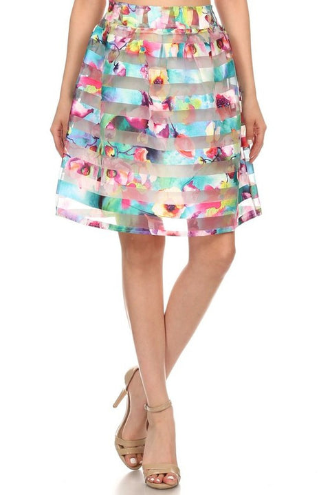 Tropical Mist Relaxed Skirt