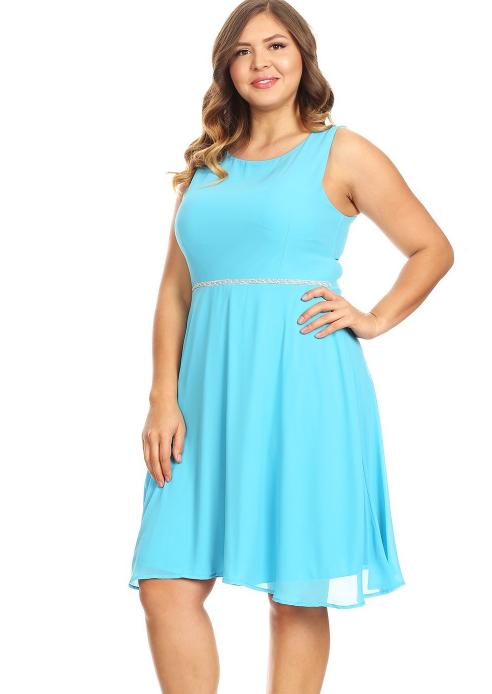 Turquoise Shania Plus Dress