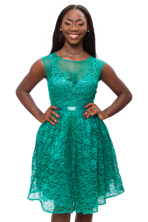 Teal Viviana Dress