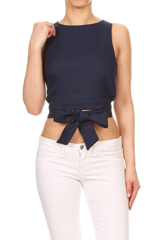 Navy Kellie Top