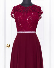 Burgundy Callie Plus Dress