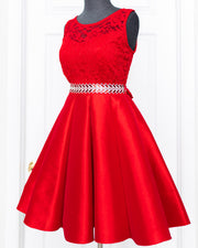 Red Stacia Dress