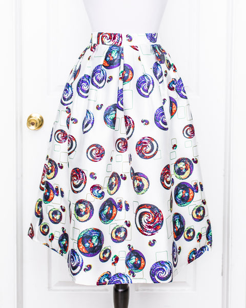 Circles Pattern Skirt