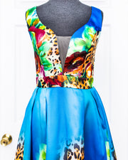 Blue Safari Dress