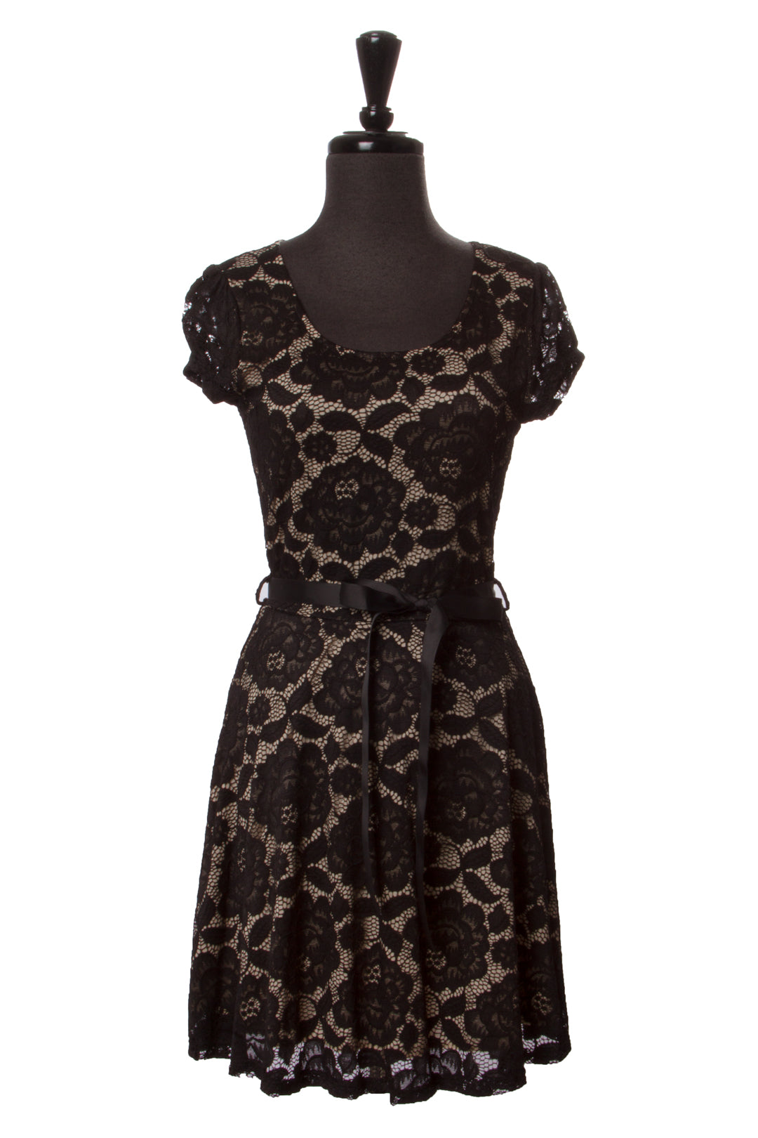 Black Elise Lace Dress