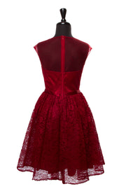 Plus Burgundy Viviana Dress
