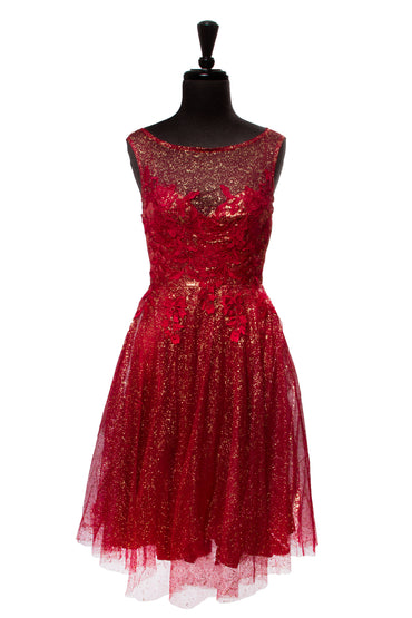 Burgundy Everlee Sparkle Dress