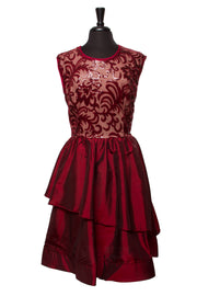 Burgundy Mallory Plus Dress