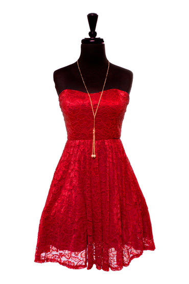 Red Amina Dress