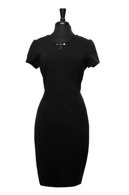 Black Giana Plus Dress
