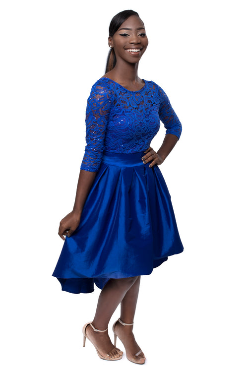 Royal Blue Sparkles Dress