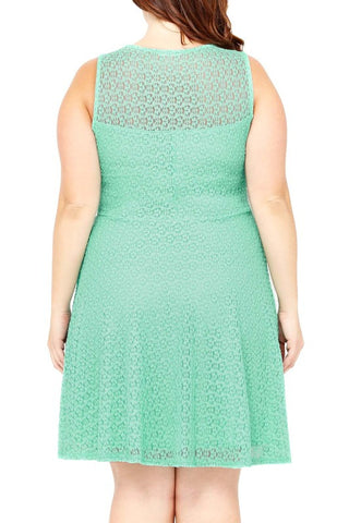 Mint Lightly Knit Plus Dress