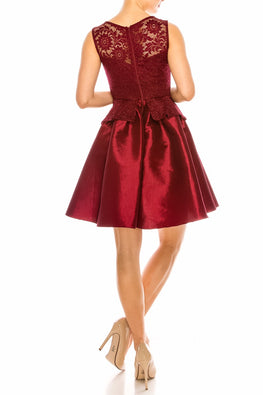 Burgundy Kayla Dress