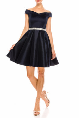 Navy Nova Embellished Dress