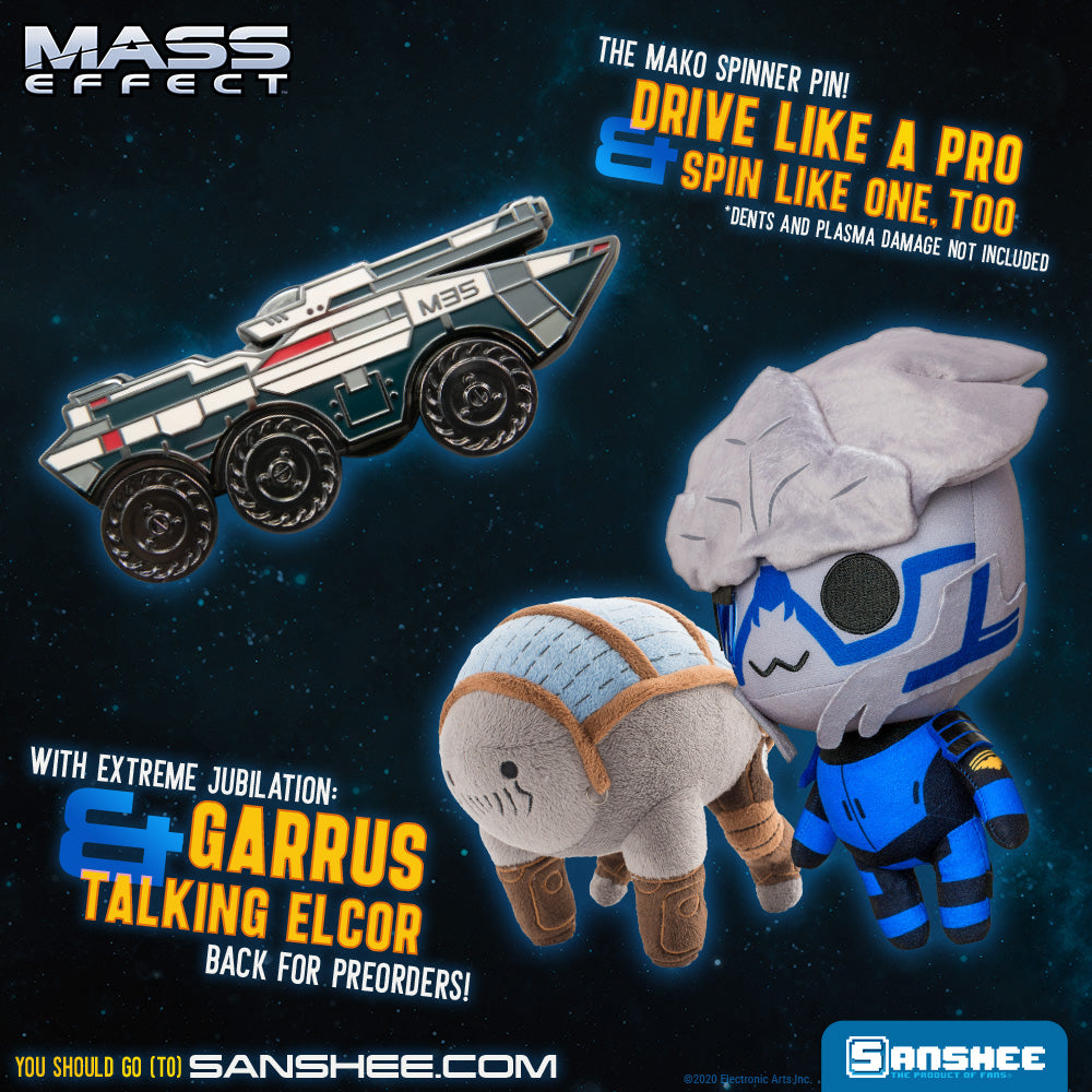 Garrus and Elcor Plush Preorders