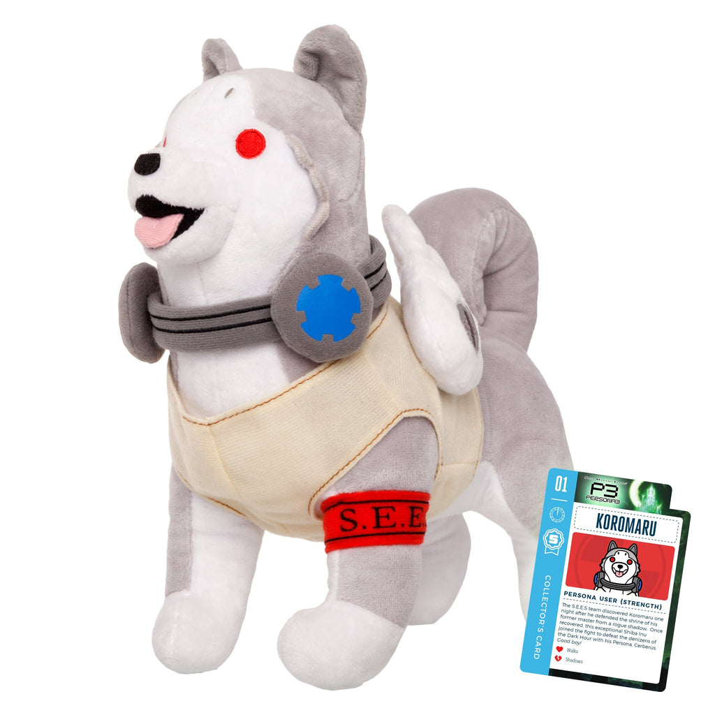 Persona 3 - Koromaru Collector's Plush Stuffed Toy With Collector's Card