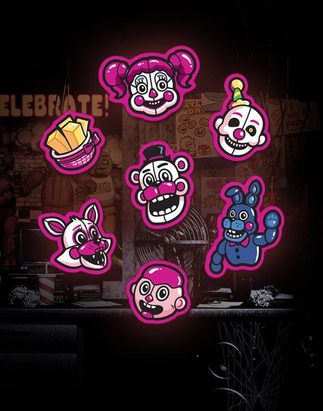 Five Nights At Freddy S Sister Location Sticker Sheet