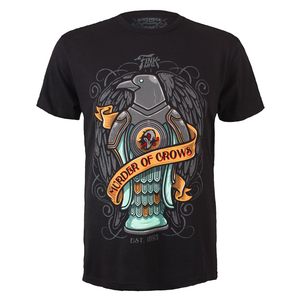 BioShock Infinite Murder of Crows Black Tee Shirt