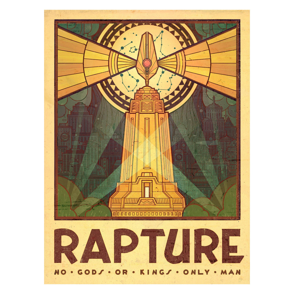 BioShock - Rapture Tourism Gloss Poster