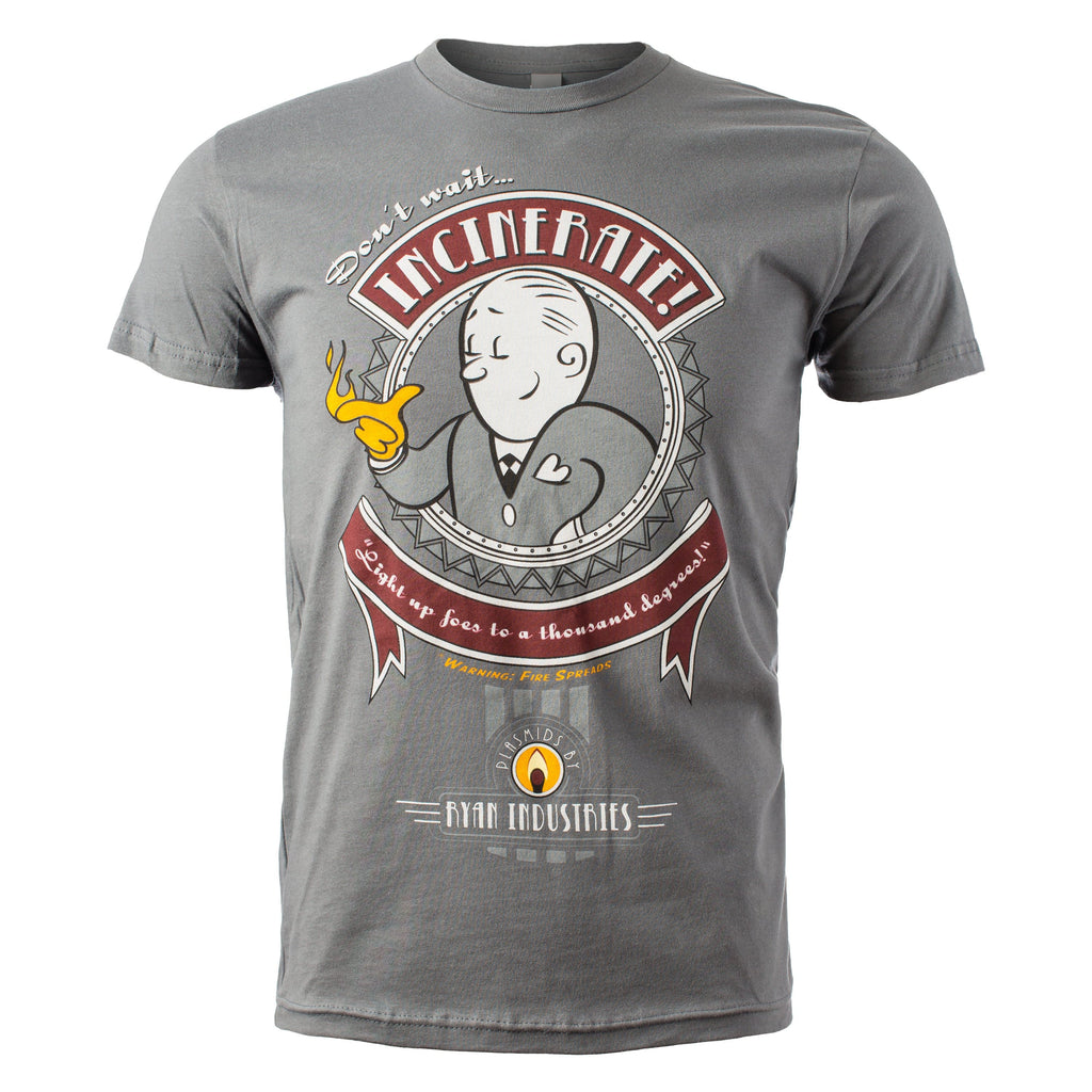 BioShock - Incinerate Plasmid Cotton T-shirt