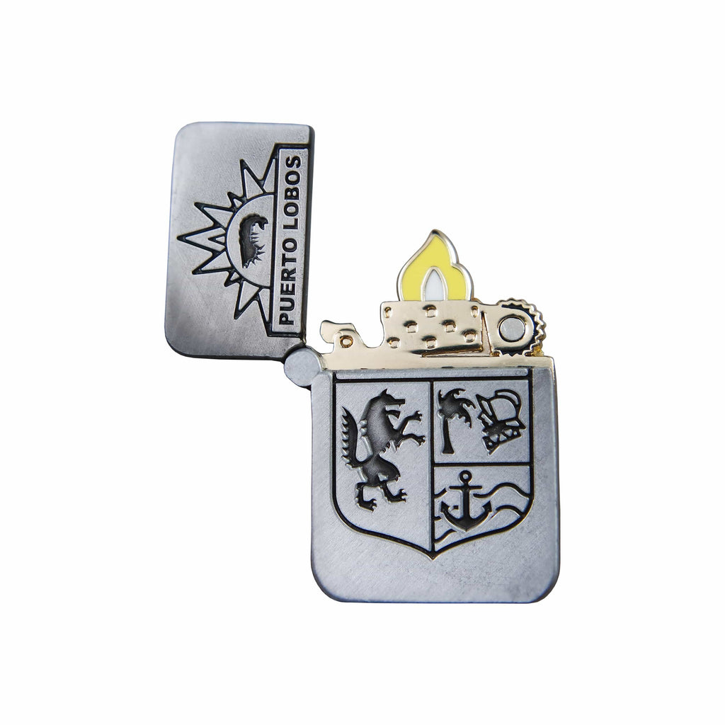 Life is Strange 2 - Puerto Lobos Lighter Silver Plated Enamel Hinge Pin Open