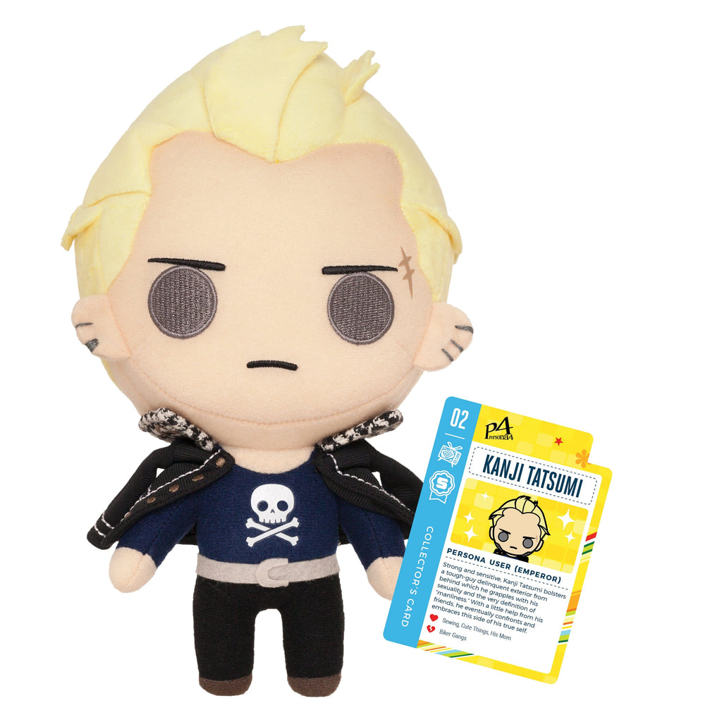 "Persona 4 - 10"" Kanji Tatsumi Collector's Stuffed Plush With Collector's Card"
