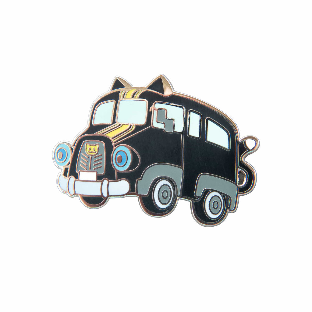 Persona 5 - Morgana Bus Silver Plated Enamel Pin