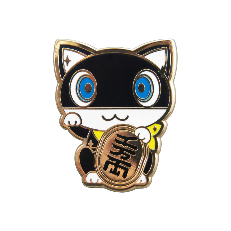 Persona 5 - Morgana Lucky Cat Gold Plated Enamel Pin